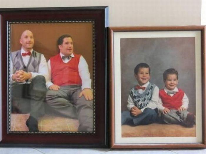 Новые фото братья, спустя время, тогда и сейчас