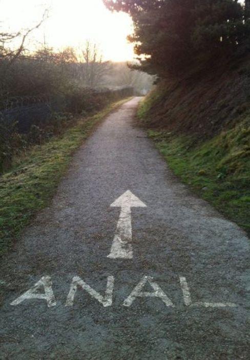 Новые фото надпись на дороге, прикол, указатель