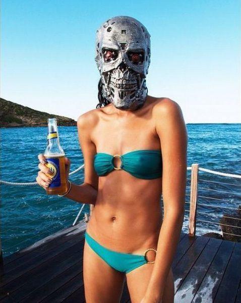 Отпадные фотки девушка, купальник, пиво