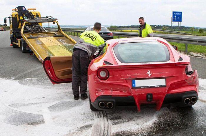 дтп, авто авария, авто, f12 berlinetta,