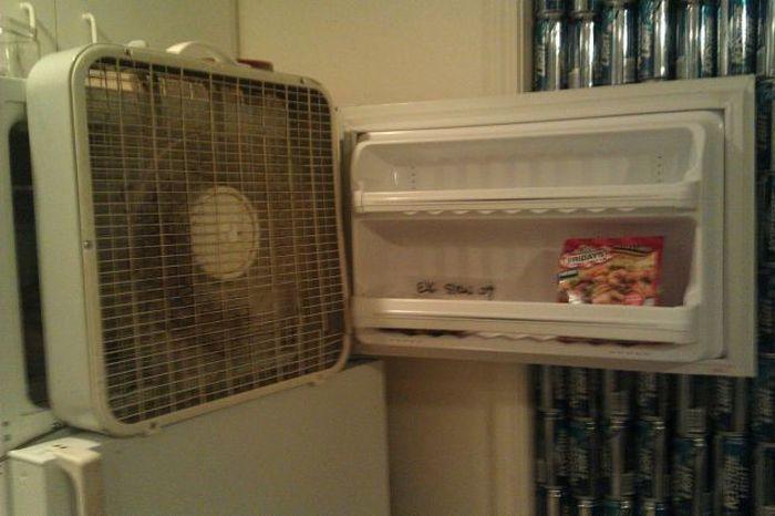 Фотоприкол онлайн вентилятор, креатив, морозильник, холодильник