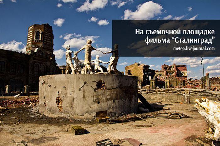 сталинград, съемки, кино, декорации