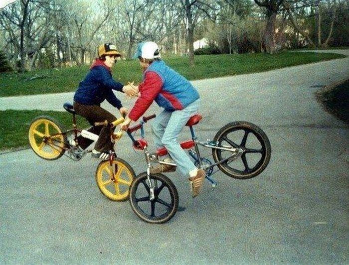 Прекрасные фото велосипед, рукопожатие, трюк