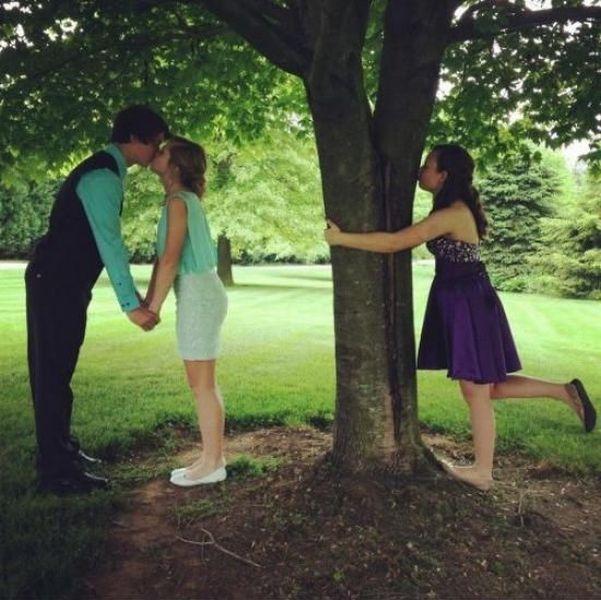 Фото онлайн дерево, поцелуй