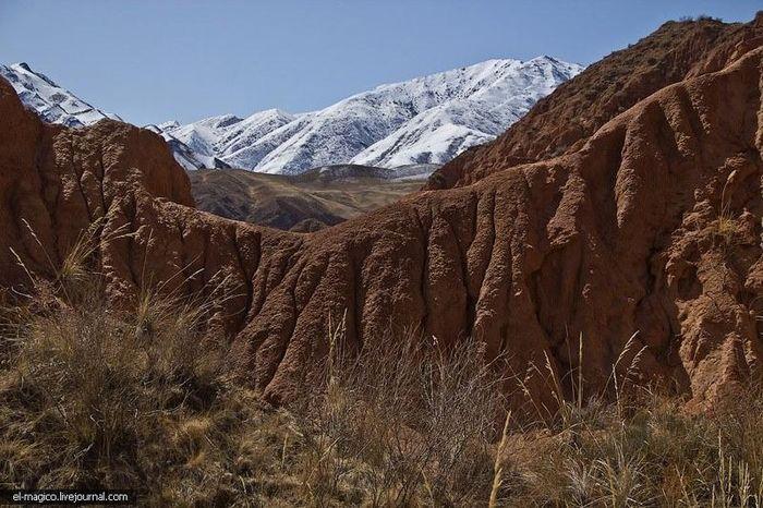 каньон, горы, узор