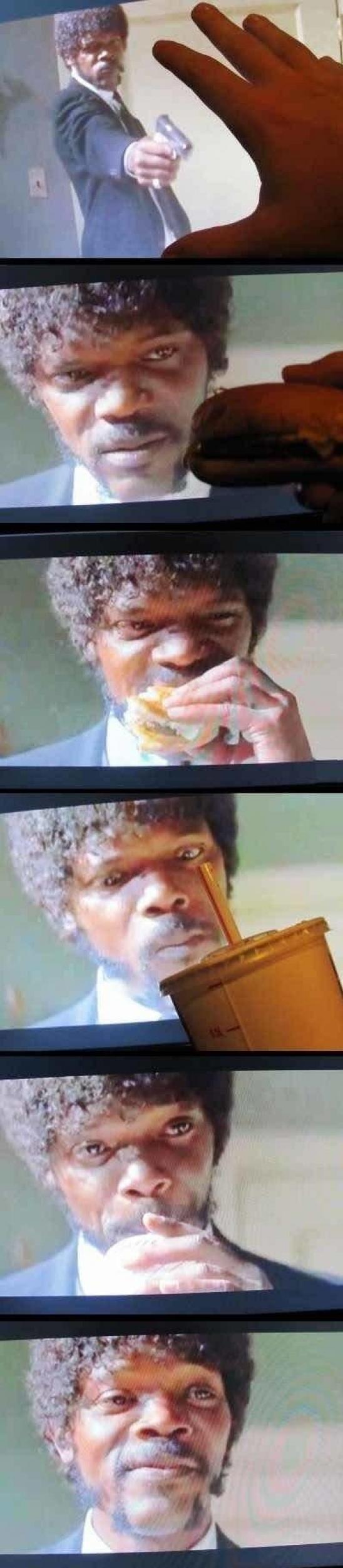 Прикол картинка бургер, выражение лица, кадр из фильма, смешная фотка