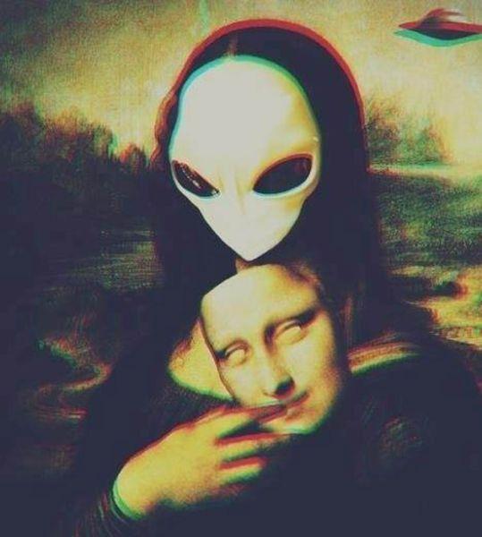 Юмор джоконда, картина, маска, незнакомка