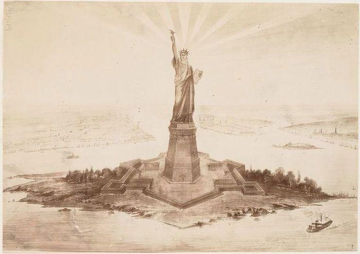 статуя свободы, сша, строительство