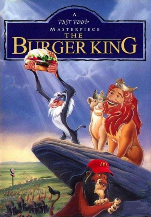Смешные рисунки бургер кинг, мультик, пародия, прикол