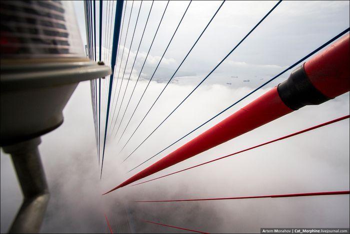 вантовый мост , восхождение, владивосток