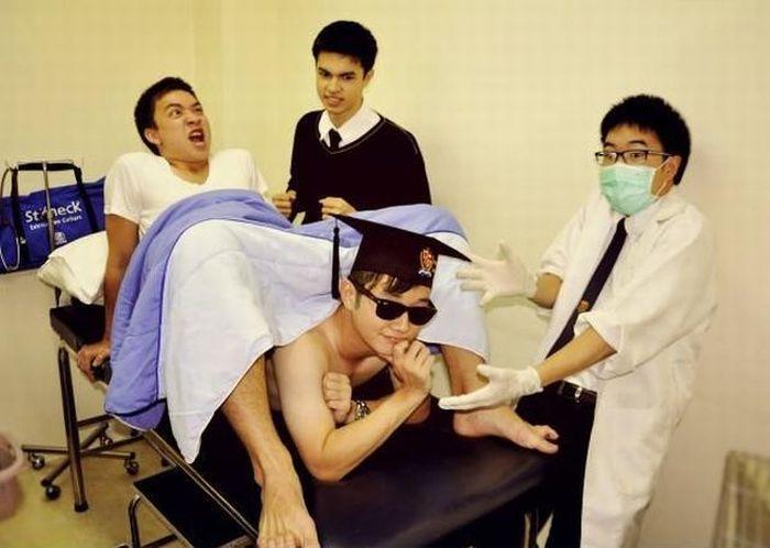 Смешные рисунки азиаты, прикол, рождение ребенка