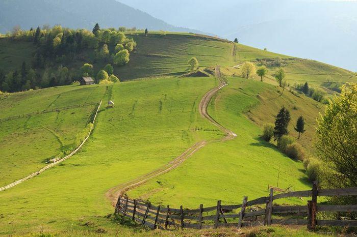 Красивые деревенские пейзажи фото