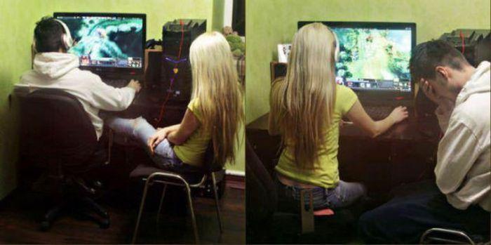 Новые фото девушка, компьютерная игра, пара