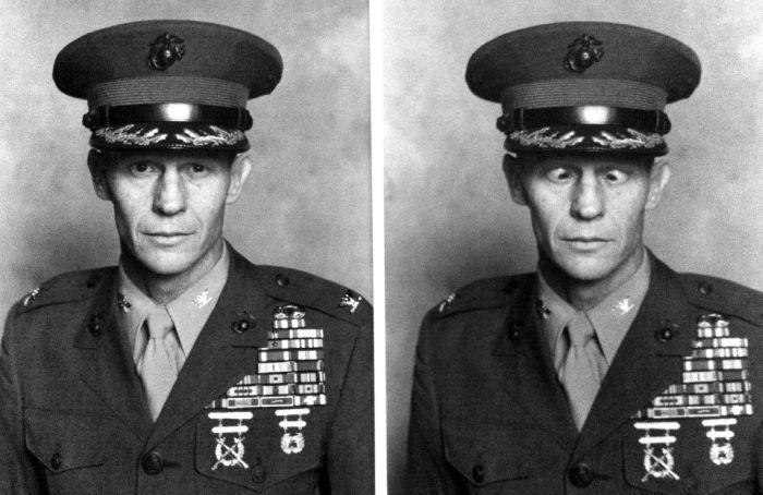 Смешные рисунки военный, выражение лица, фотография