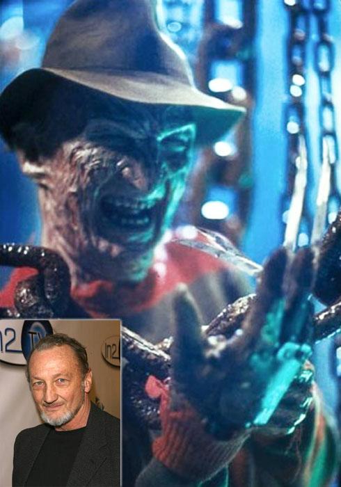 Легендарного героя фильмов ужасов Кошмар на улице Вязов/ A nightmare on Elm street играл Роберт Инглунд (варианты: Ингланд) (Robert Englund).