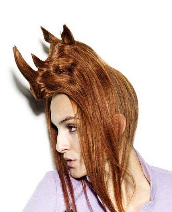 Креативы из волос (16 фото)