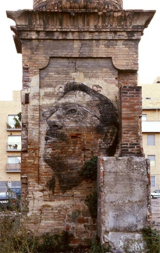 Face wall paintings