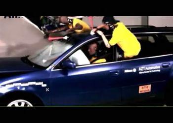 Интересный краш-тест автомобиля с фанатами