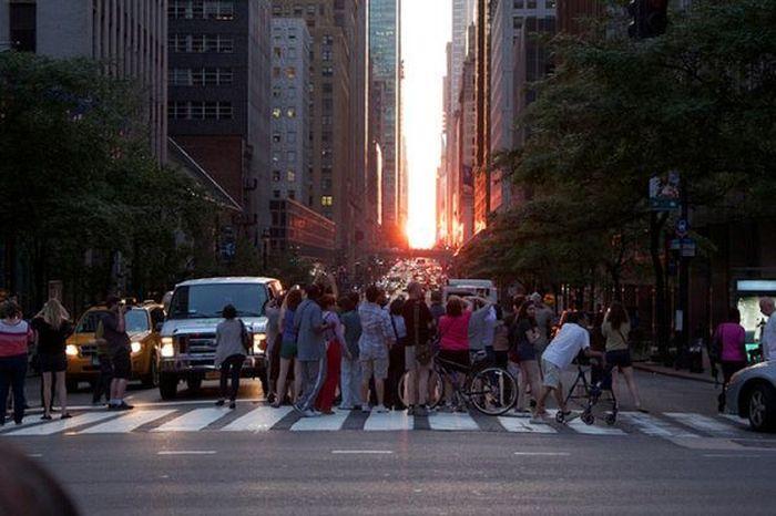 Фотографии заката солнца в Манхеттене (13 Фото)