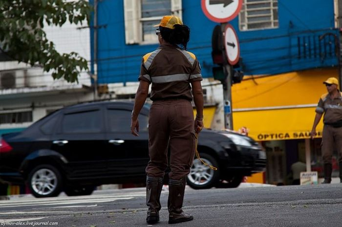 Дорожное движение в Сан-Паулу (Бразилия) (23 фото)