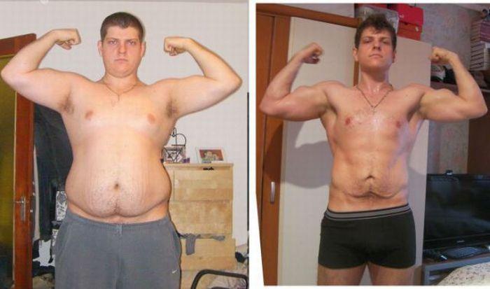 фото мужских похудевших