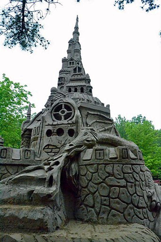 Самый высокий замок из песка (9 фото)