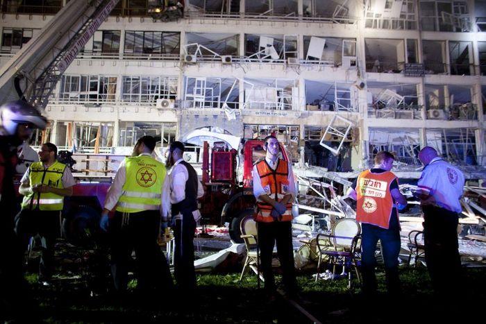 Взрыв дома в Нетании ( 7 фото)