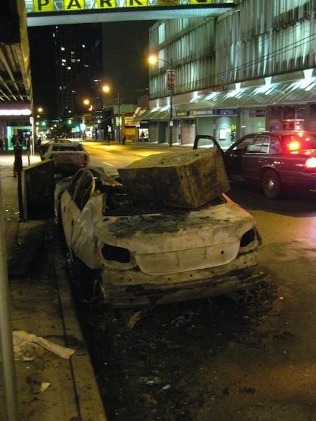 Крушение автомобилей в Ванкувере (6 фото+7 видео)