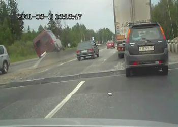 Отказали тормоза на ж/д переезде
