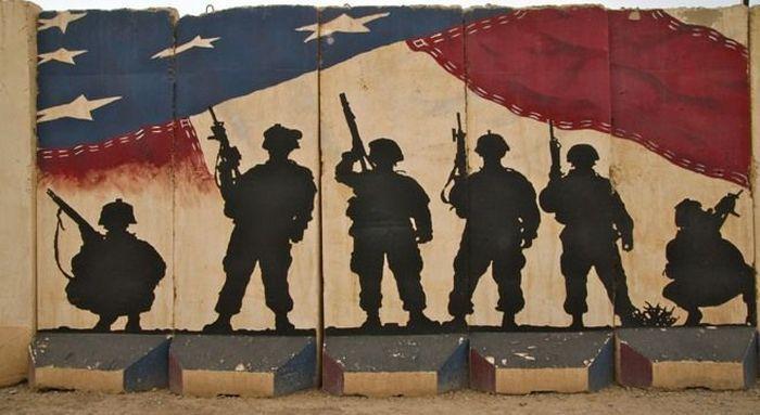 Граффити войны в Ираке (12 Фото)