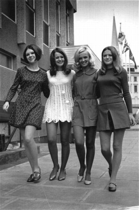Мини юбки в 70 годах