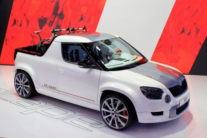 Компания Skoda представила концепт пикапа на базе модели Yeti (11 фото)