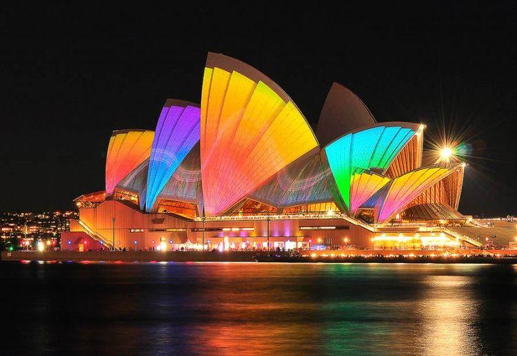 Фестиваль света в Сиднее (35 фото)
