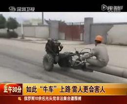 Перевозка столбов в Китае