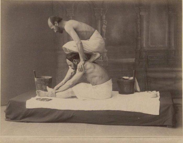 Грузинский массаж (8 фото)