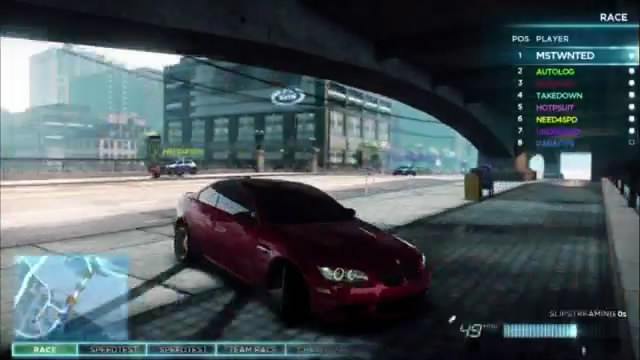 Видео Need for Speed: Most Wanted – демонстрация мультиплеера (видео)