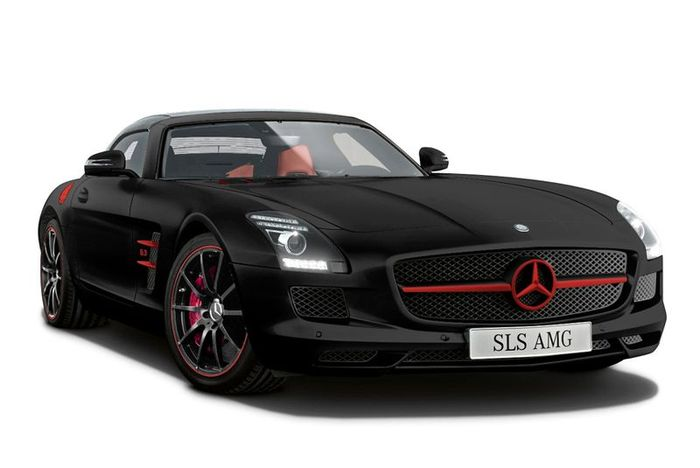Матовые красавцы Mercedes-Benz SLS AMG для японского рынка (3 фото)