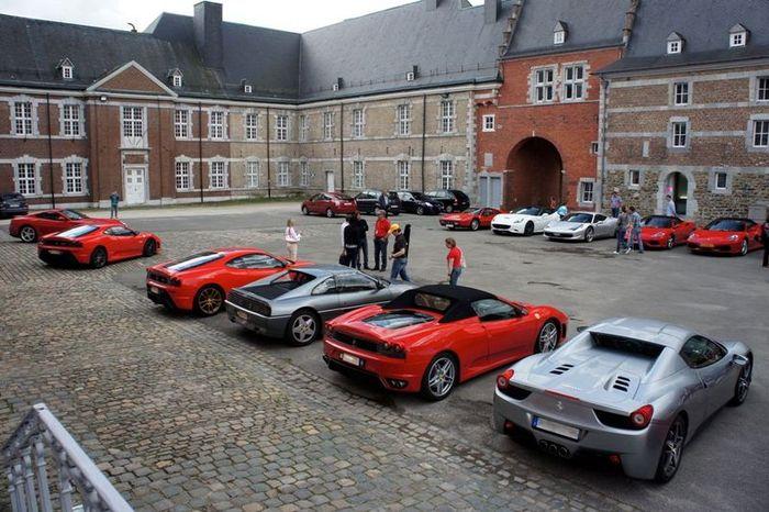 Бельгийский Ferrari-клуб отметил свое 40-летие (40 фото)