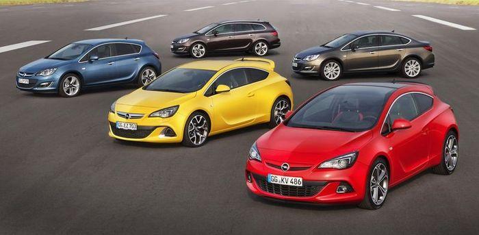 В компании Opel представили обновленное семейство Astra (28 фото)