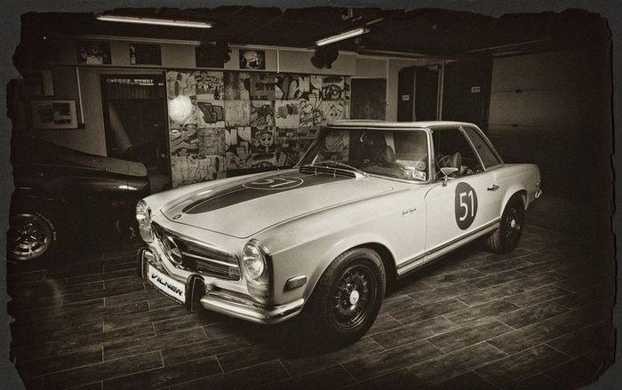 Болгарское ателье Vilner отреставрировали Mercedes-Benz W113 (20 фото)