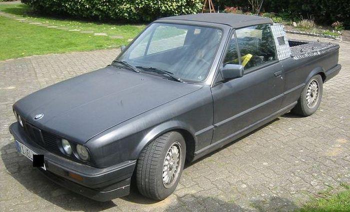 BMW 325i Cabriolet E30 превратилась в пикап (5 фото)