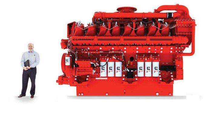 95-литровый дизельный двигатель от компании Cummins (фото+видео)