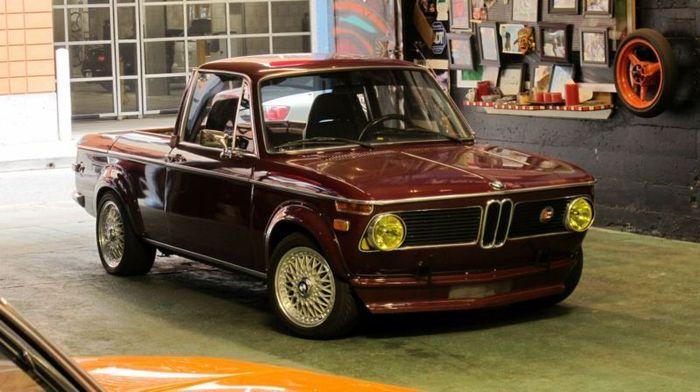 Ретро BMW 1600 в кузове пикап (23 фото+видео)