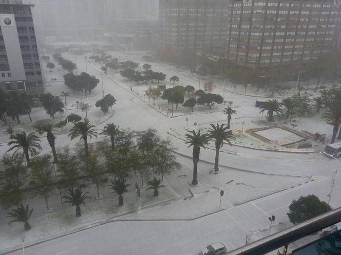 африка, кейптаун, юар, снег, снегопад