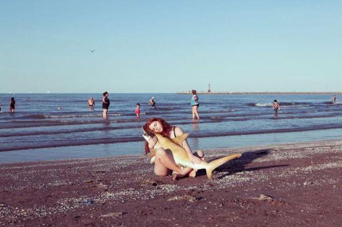 Смешная фотогалерея пляж, рыба
