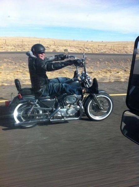Фото прикол мотоцикл, мотоциклист
