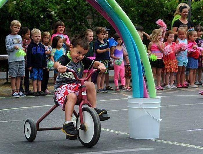 Фотоподборка велосипед, дети, радуга