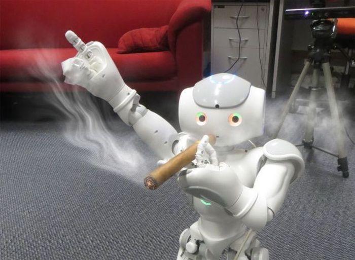 Фотожесть робот, сигара