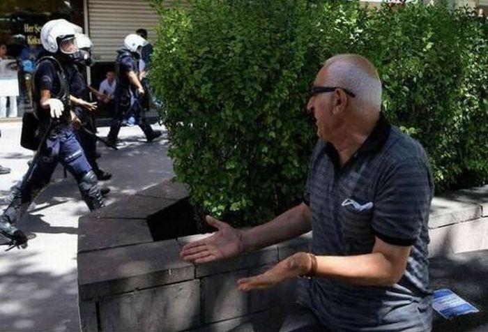 Фотка возмущение, полиция