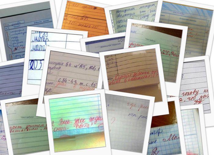 дневник, школа, юмор, записи, учитель,